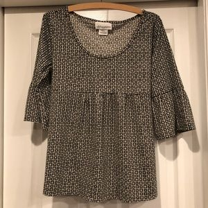 Maternity geometric pattern shirt